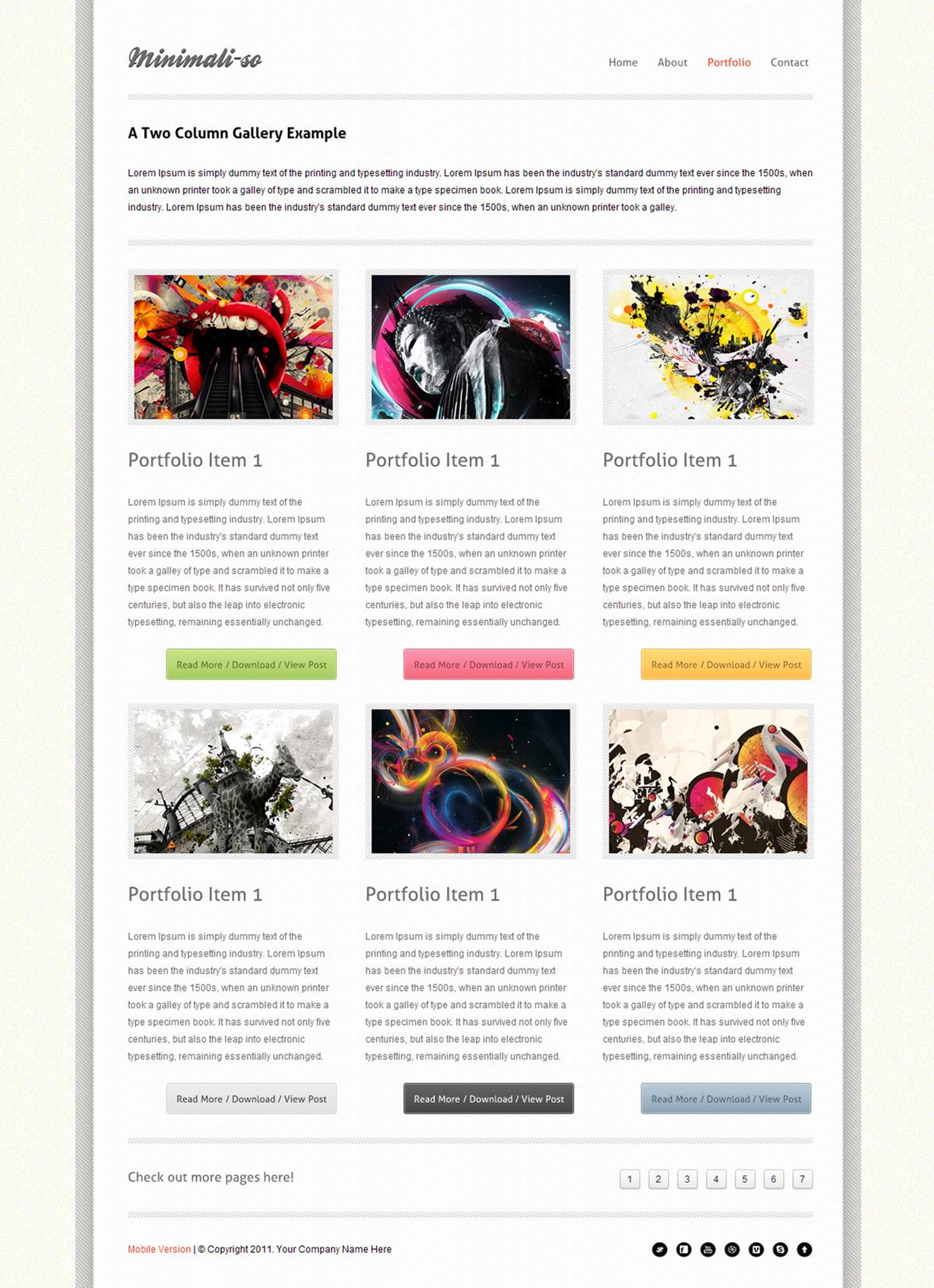 Minimaliso | HTML5 & CSS3 With iPhone WebApp