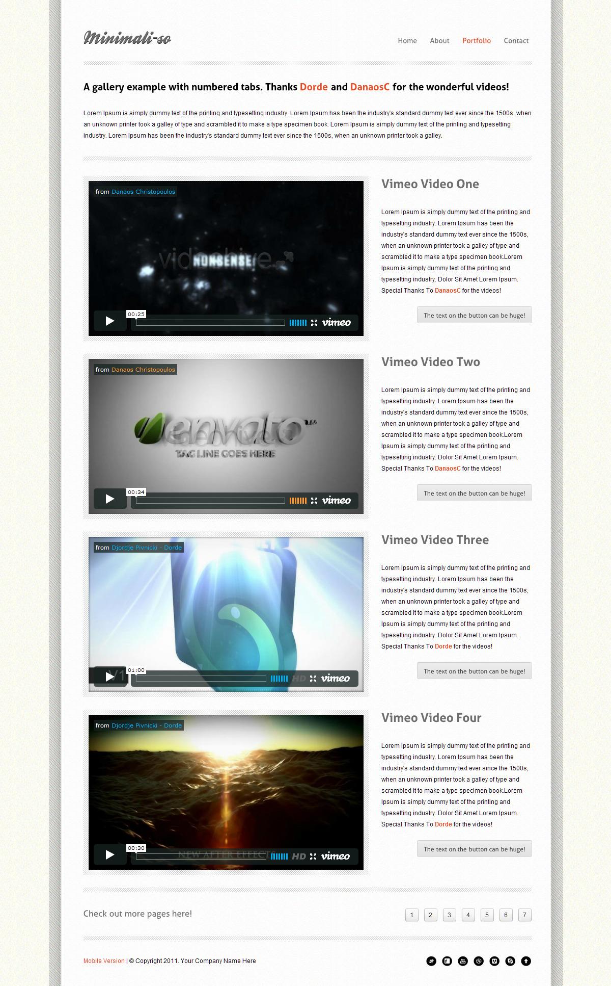 Minimaliso   HTML5 & CSS3 With iPhone WebApp