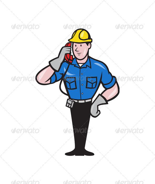 GraphicRiver Telephone Repairman 4243579