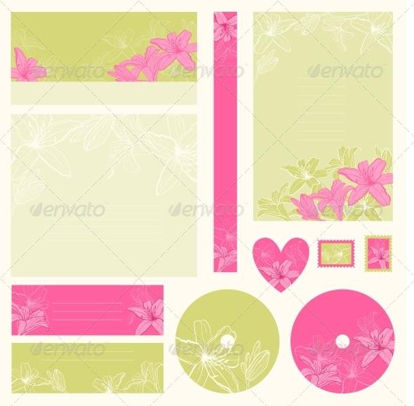 GraphicRiver Set of Wedding Invitations 4243944