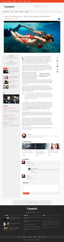 Typegrid - Responsive News & Magazine Theme