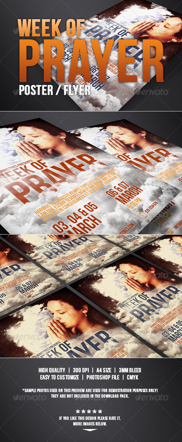 GraphicRiver Week of Prayer of Poster Flyer 4244228