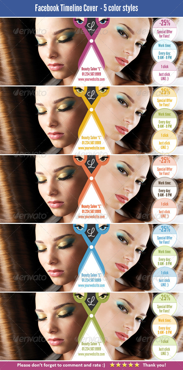 GraphicRiver FB Cover Template for Beauty Salon 4173345
