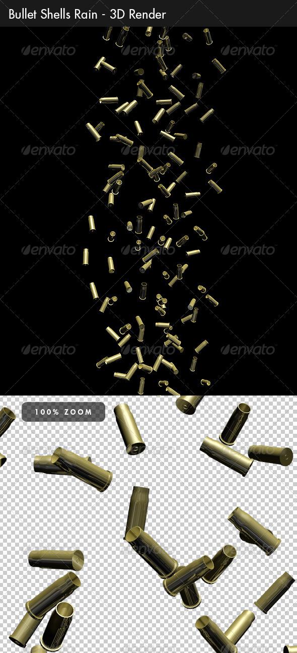 GraphicRiver Bullet Shells Rain 4157612