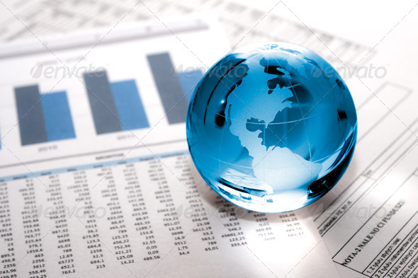 glass globe business. Global Market - Stock Photo - Images
