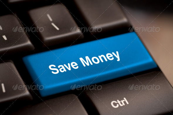Save Money button key - Stock Photo - Images
