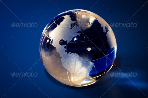 glass globe - Stock Photo - Images