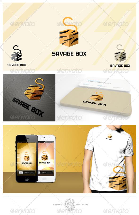 GraphicRiver Savage Box Logo 4148896