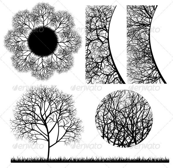 GraphicRiver Tree Design Elements 4244954