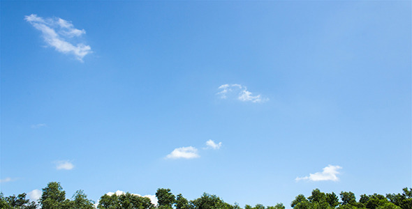 VideoHive Just A Blue Sky II Time Lapse 4245081