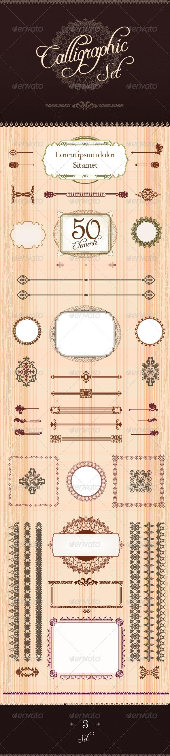 GraphicRiver Calligraphic Design Set 3 4245101