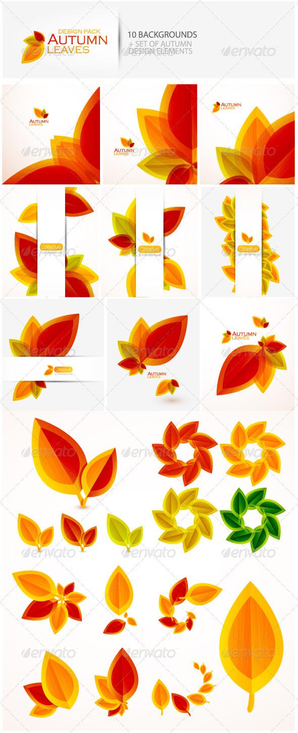GraphicRiver Autumn design pack 459891