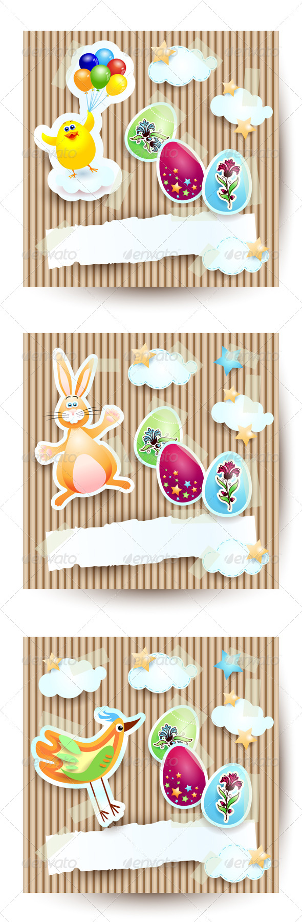 GraphicRiver Easter Cards Set 4245600