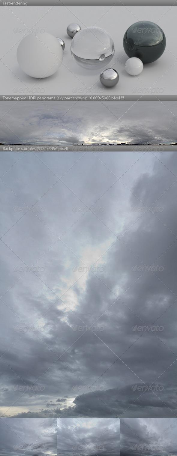 3DOcean HDRI spherical sky panorama 1107- overcast sky 4245785