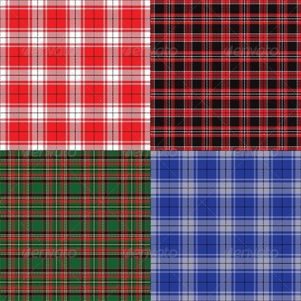 Checkered Fabric Seamless