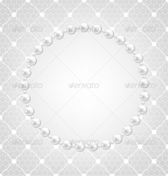 GraphicRiver Pearl Frame and Lace Background 4245845