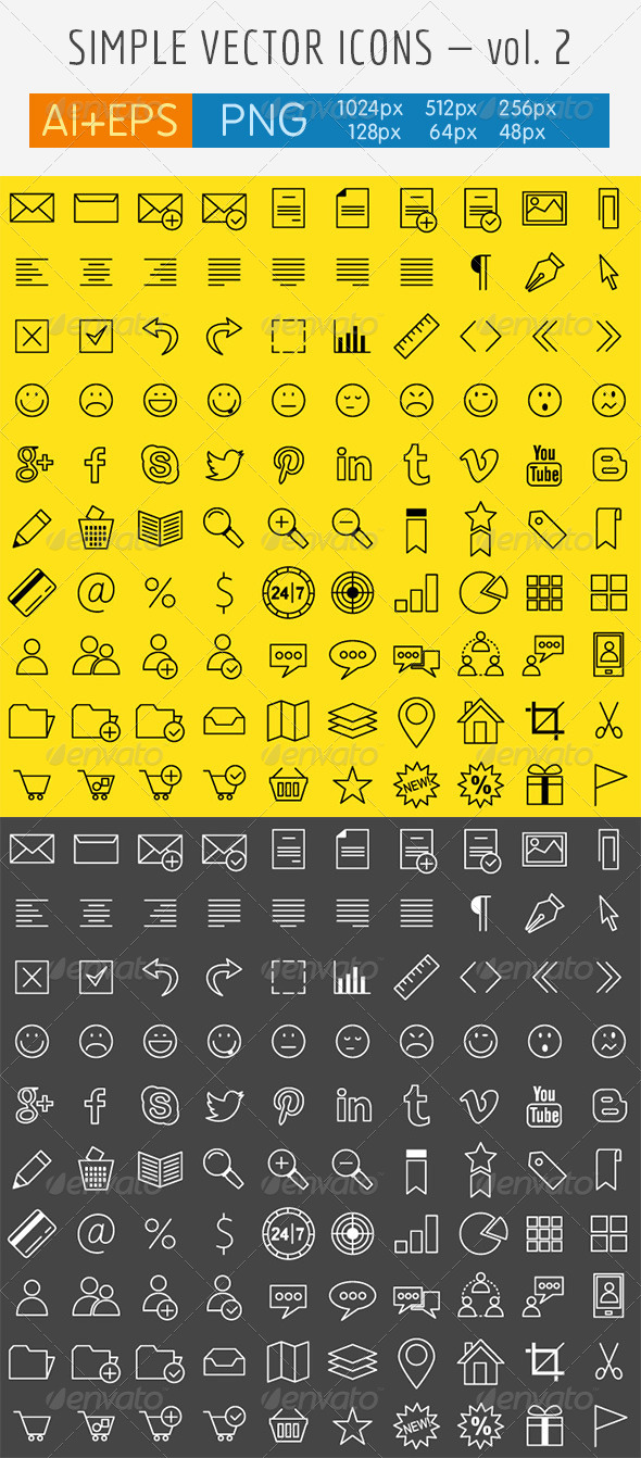 GraphicRiver Simple Vector Icons Vol 2 4245867