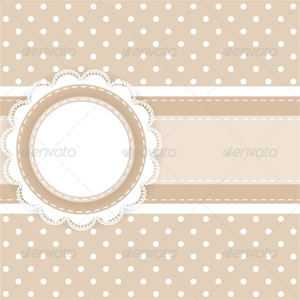 GraphicRiver Scrapbooking Card with Lace and Ribbon 4245911