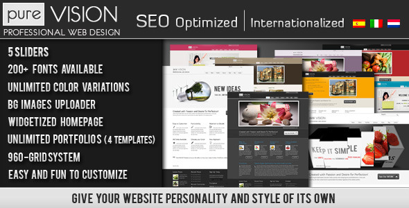 PureVISION WordPress Theme - ThemeForest Item for Sale