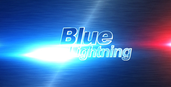 After Effects Project - VideoHive Blue lightning 409923