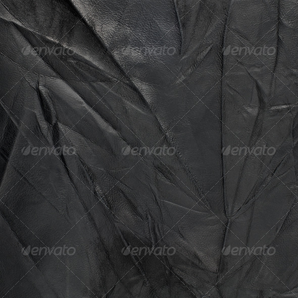 Black leather - Stock Photo - Images