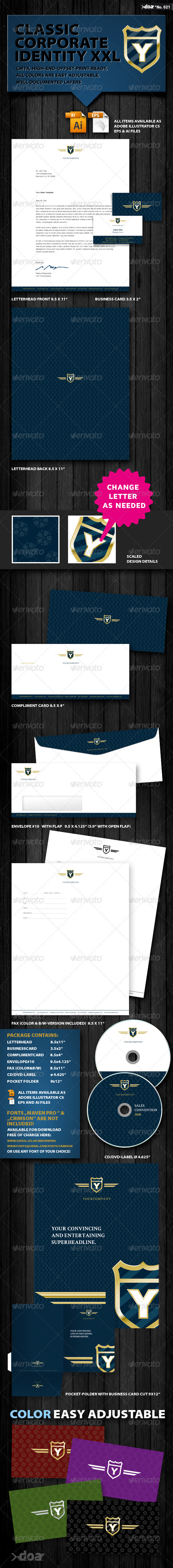 Classic Corporate Identity XXL - Stationery Print Templates