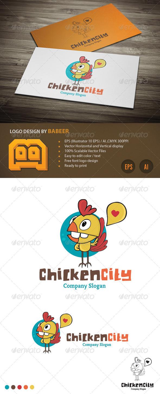 GraphicRiver Chicken City Logo 4247110