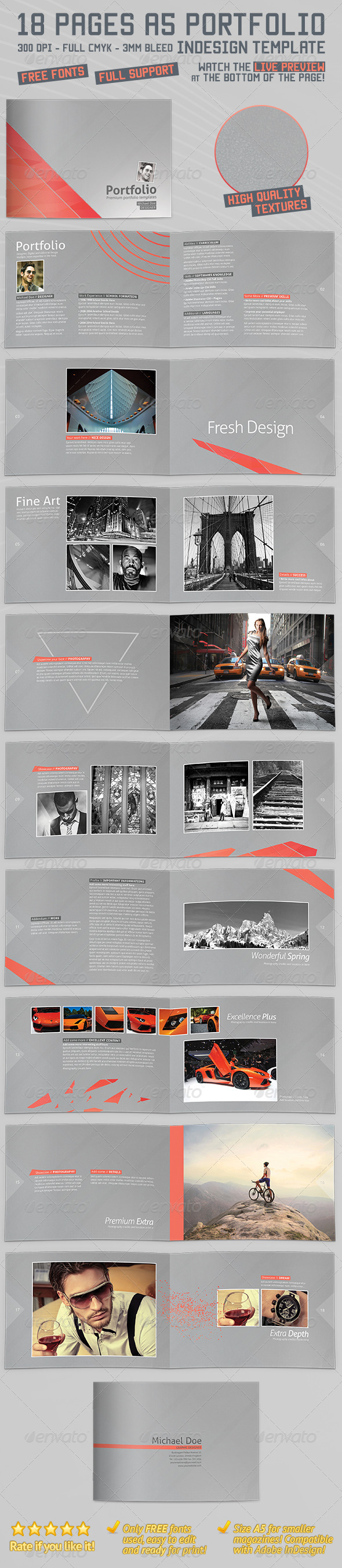 GraphicRiver A5 Landscape Portfolio Brochure Booklet 4247115