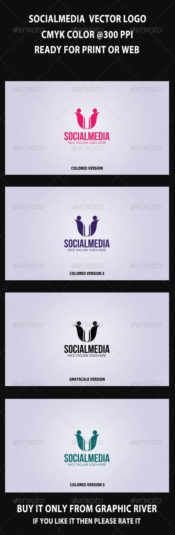 Social Media Logo Template 5 - Symbols Logo Templates