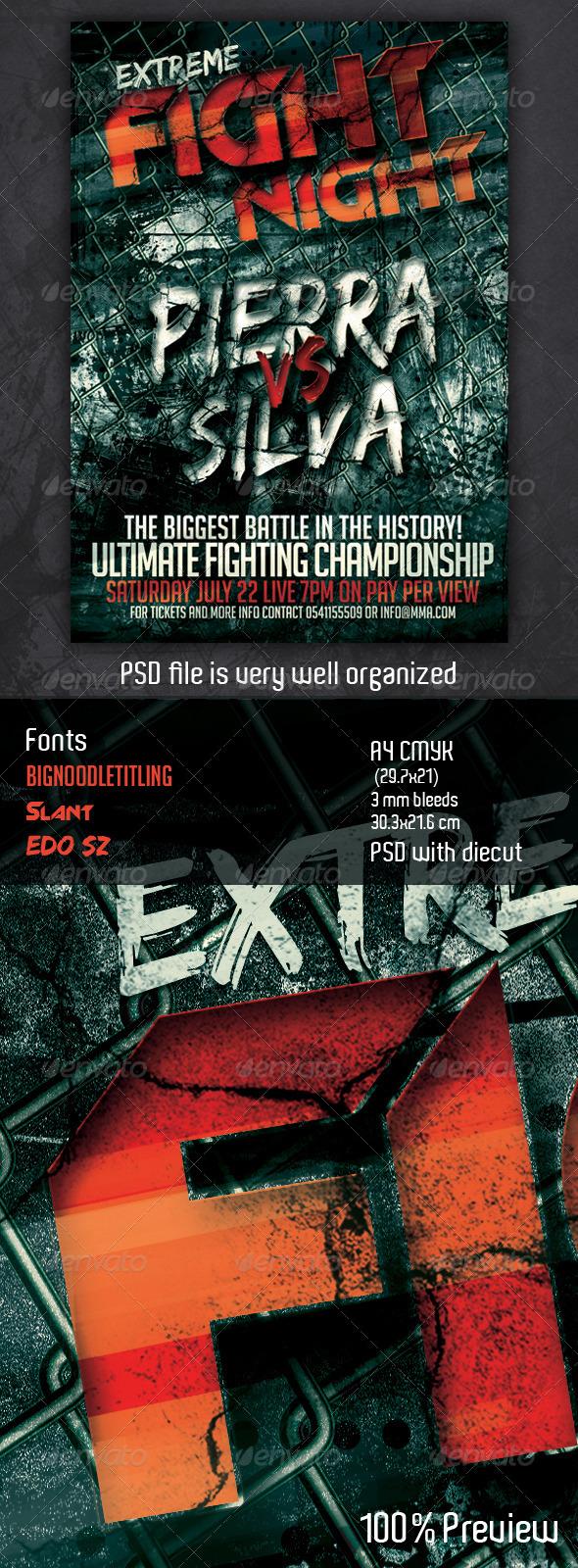 GraphicRiver MMA Fight flyer 4061672