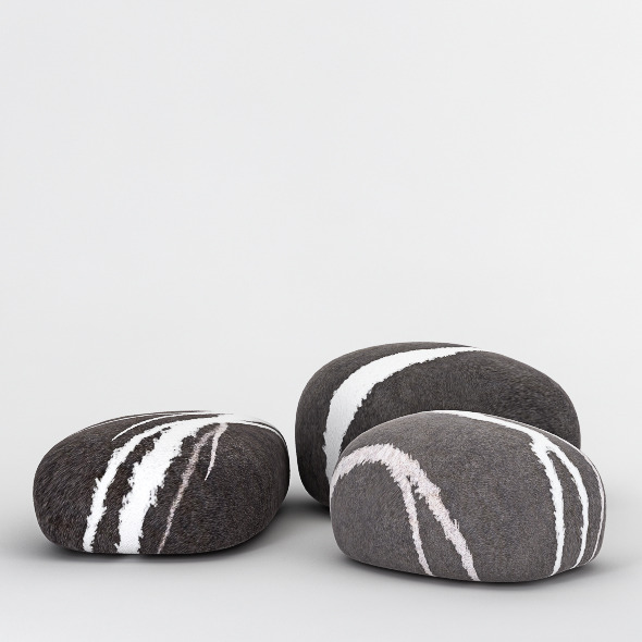 Stone Poufs - 3DOcean Item for Sale