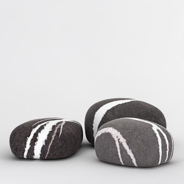 3DOcean Stone Poufs 4247484