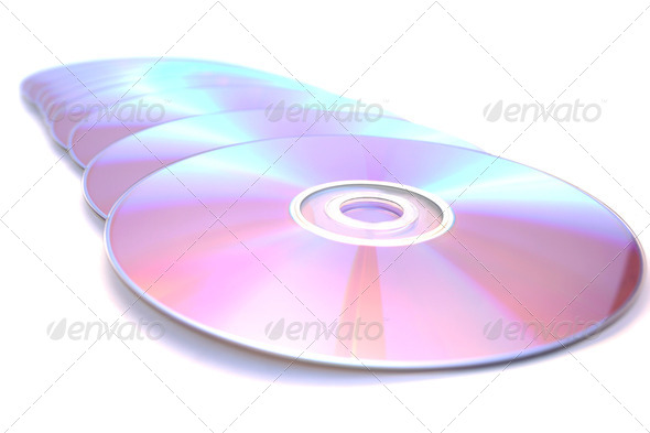 PhotoDune Dvds on white 4247574