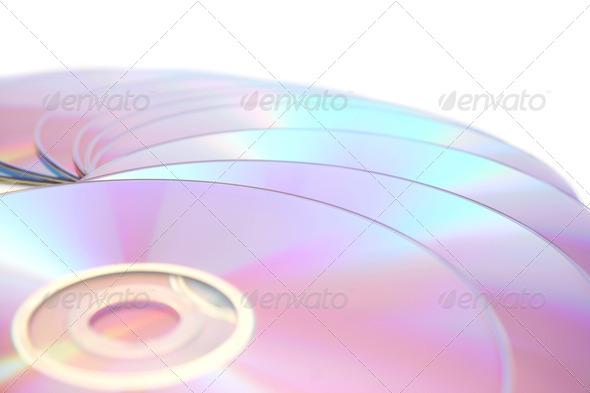 PhotoDune DVDs on white 4247593