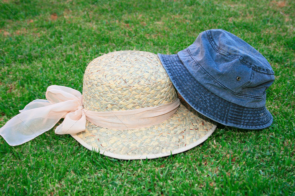 PhotoDune Hats on the grass 4247595
