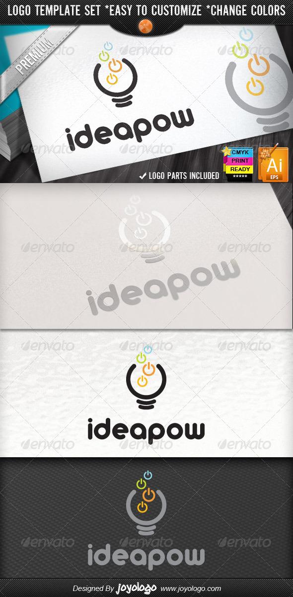 GraphicRiver Computer Electronics IT Business Idea Power Logo 3017740