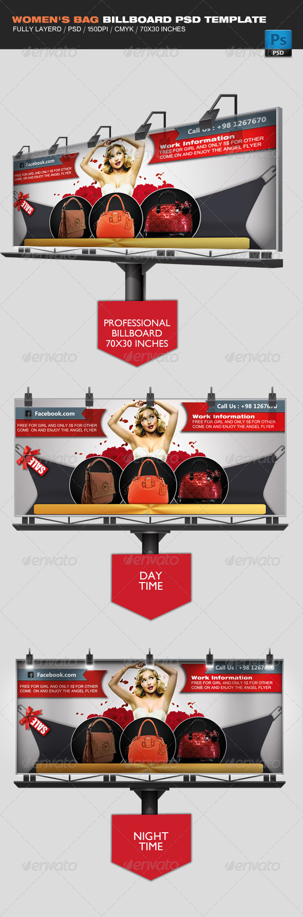 GraphicRiver Women s Bag Business Billboard 4062234