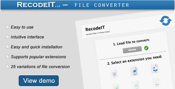 CodeCanyon RecodeIT Converter 4235718