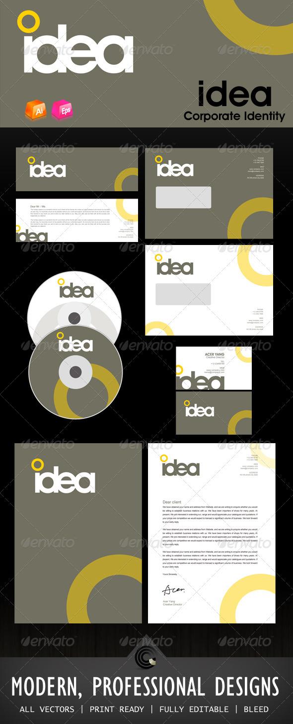 GraphicRiver Idea Design Corporate Identity 460338