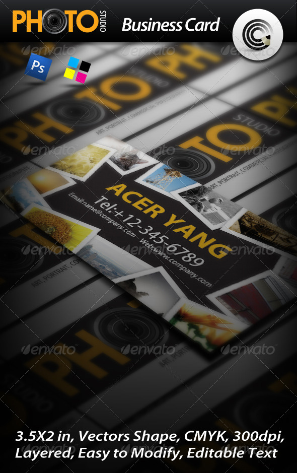 GraphicRiver Photo Studio Business Card 460373