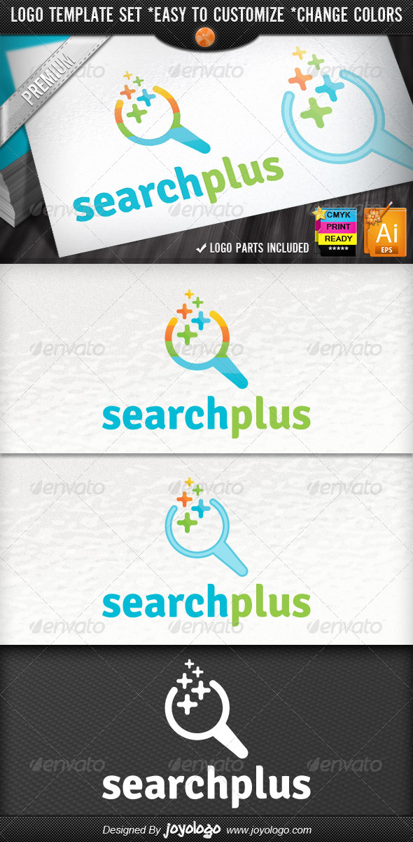 GraphicRiver SEO Optimize Company Pixel Plus Search Logo 4249148
