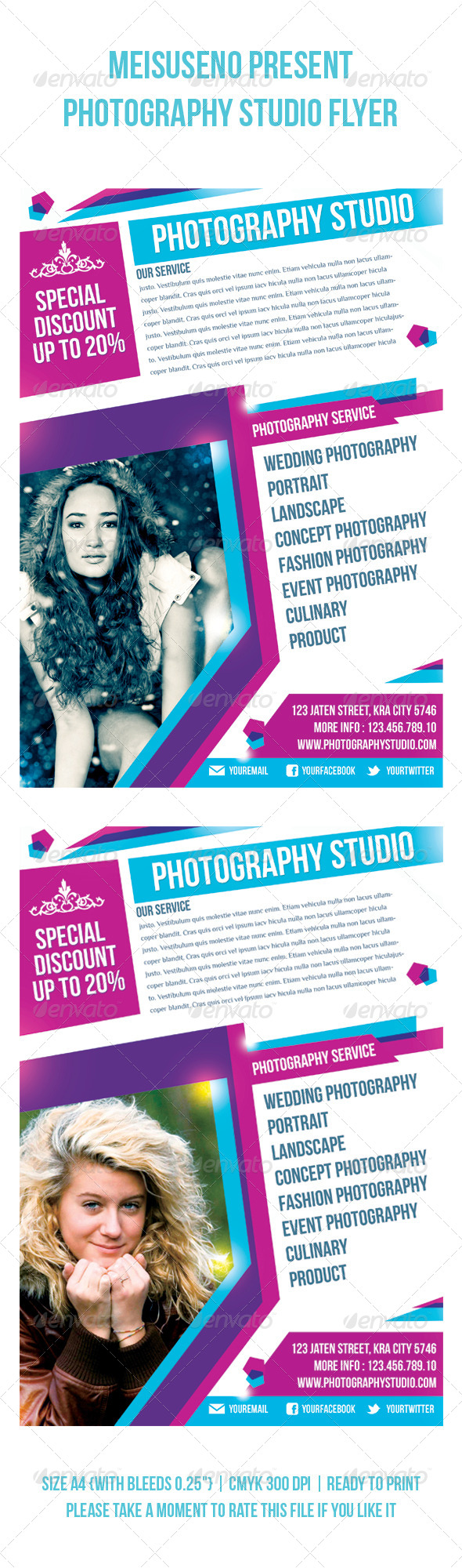 GraphicRiver Photography Studio Flyer 4040539