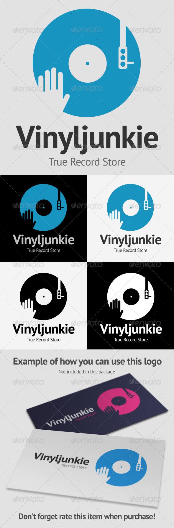 GraphicRiver Scratch Vinyl DJ Logo 4123576