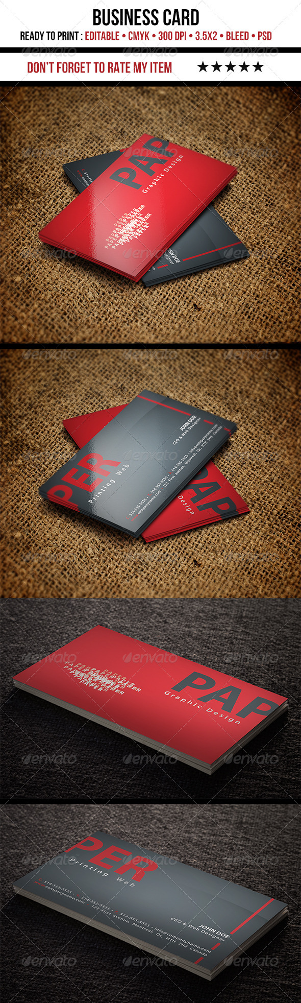 GraphicRiver Beautiful Business Card 4058029