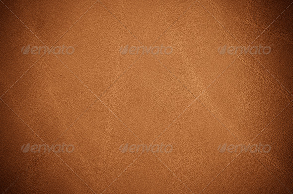 Brown leather texture closeup - Stock Photo - Images