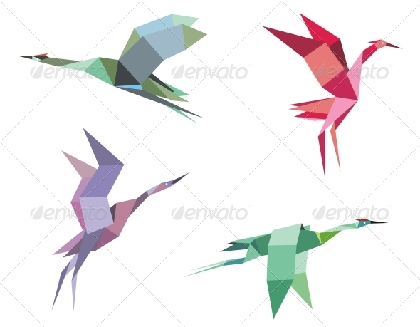 GraphicRiver Cranes and Herons 4249456