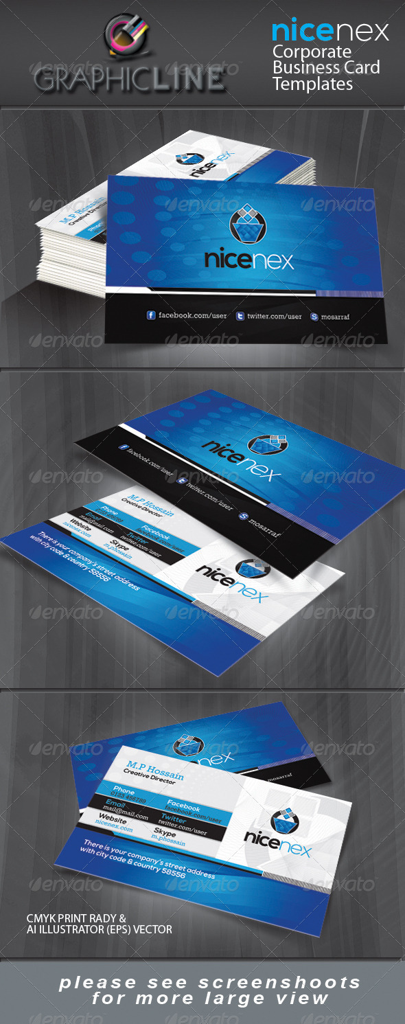 GraphicRiver Nice Nex corporate business card 4249488