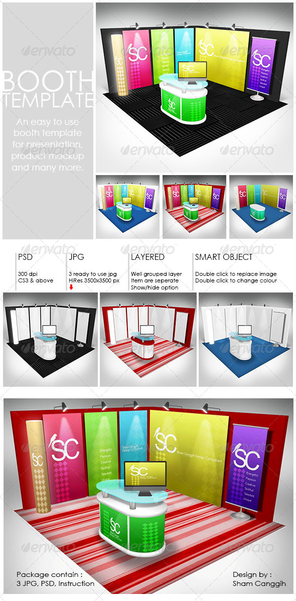 GraphicRiver Booth Mock-up Template 4177606
