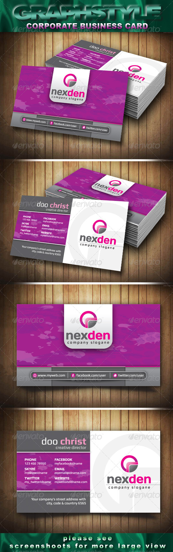 GraphicRiver Nexden Corporate Business Card 4043893