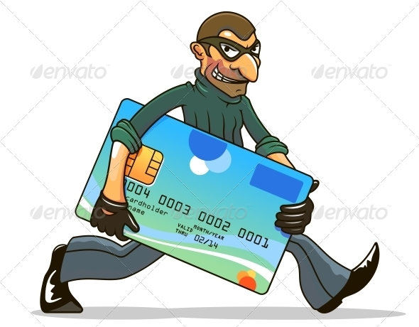 GraphicRiver Hacker or Thief Stealing Credit Card 4250154